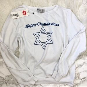 Wildfox Tops - Wildfox Happy Challahdays Pullover